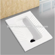 D005 Hner Factory wholesale high quality ceramic squatting pan (both front and after drainage)