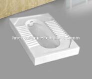 Water Saver P Trap Ceramic Squatting Toilet Pan