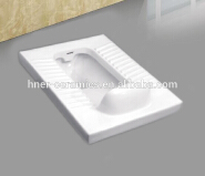 Sanitary ware ceramic squatting pan toilet