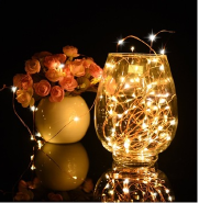 Christmas fireworks light with Dancing Remote Battery operated Dimmable Copper Wire outdoor led ligh