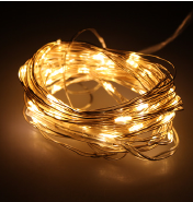 2m 20LED dimmable battery operated Remote control led mini copper wire string lights