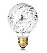 1W 85-265V G80 led copper wire bulb fairy lights E27 G80 decorate garden bulb