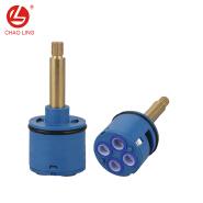 4 way diverter ceramic cartridge flat faucet cartridges