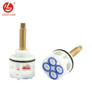 Taizhou diverter brass lever cartridge faucet ceramic cartridge diverter
