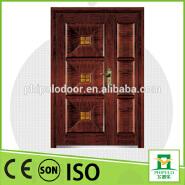 2016 security armored door double wooden door design mian entrance door