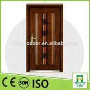 High quality good design steel wood Armored door for Turkey market