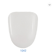Adjustable slowly down white toilet attached seat cover