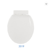 Plastic oval self-cleaning sanitary wc custom toilet seat cover