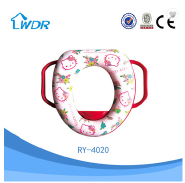 Color bathroom sanitary armrest hello kitty pattern design cartoon PVC baby toilet cushion