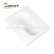 Easy clean durable pure white sanitary ware squatting wc pan squat flush standard toilet size
