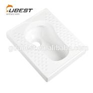 Comfortable smooth wholesales white ceramic sanitary ware toilet squatting pan without trapway