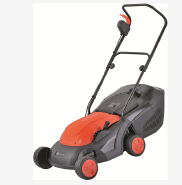 Electric Lawn Mower 1600W with 380mm Cutting Width and Adjustable Cutting Height