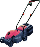 Electric Lawn Mower 1200W with 320mm Cutting WIdth and Adjustable Cutting Height