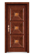 entrance steel wood armored door in yongkang