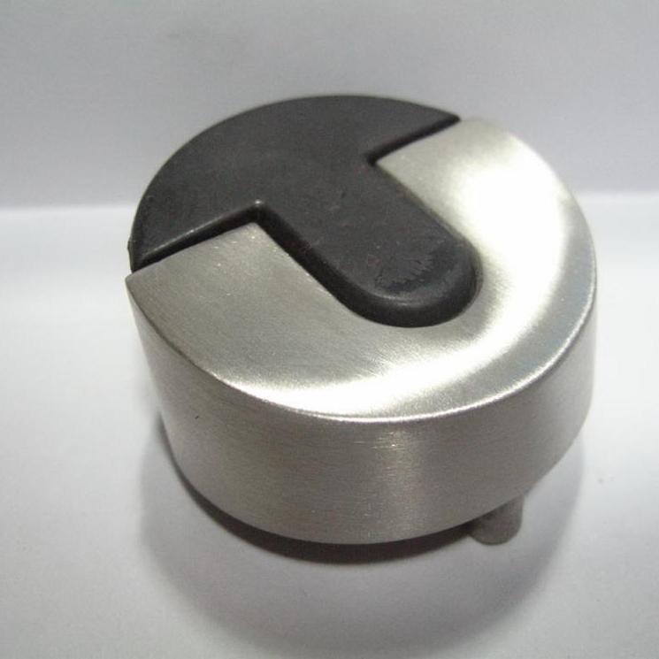 DH076 Stainless steel floor mounted door stop door holder with black rubber