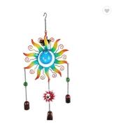 Solar Garden Metal Flower Wind Chimes Hanging Led Outdoor Lights