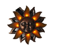 Solar Sunface Wall Decor Metal Decorative Lights