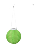 CA1257-1CZB Solar Powered Led Silk Hanging Christmas Hanging Lantern Lights
