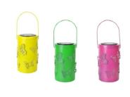 CA2381 Solar Garden Metal Candle Lantern Moroccan Hanging Led Outdoor Lights