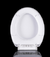 Pakistan market PP white round europe competitive soft slow down toilet seat 1025