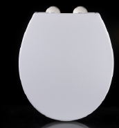 European Market toilet seat Round shape pp seat cover stainless steel hinges toilet seat cover 1096