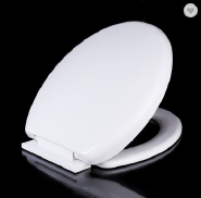 Bathroom products round shape design PP toilet seat plastic hinges Seat cover 1025