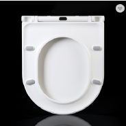 163 Urea European size toilet seats slim new design one push button quick release soft close