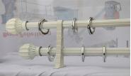 White aluminum curtain pole