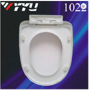 1022 Easy installation toilet seat lid elongated soft close PP toilet seat