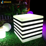 hot sales modern furniture chairs color changing led cube bar stool with remote control