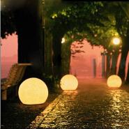 2019 Hot sale Color changes waterproof solar energy courtyard circular LED Garden lamp