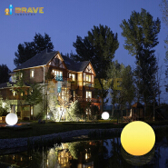 2019 Amazon hot seller Color changes waterproof solar energy courtyard circular LED Garden lamp
