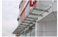 high quality clear solid pc window awning
