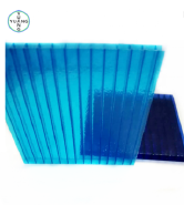 Yuyang supply good quality and best price building material transparent blue two walls polycaronate hollow sheet for sale