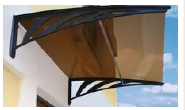 top sale Markrolon/GE LEXAN bronze polycarbonate solid awning