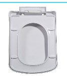 Square shape soft close eco-friendly material toilet seat cover