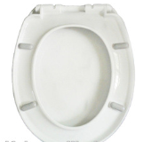 one button quick release round rectangular poly resin toilet seat