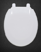 Round shape toilet cover with normal close fast release