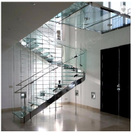 frameless safety laminated glass for stair railing