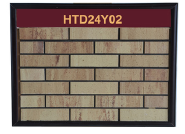 New designs outdoor extruded yellow clay 3d brick wall panels