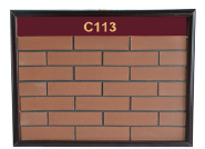 Latest factory supply fireproof solid red striped surface brick tile wall