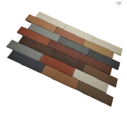 Popular natural clay sound-resistant colorful exterior wall facing red caly bricks