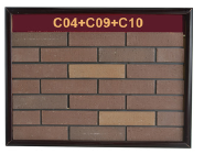 Korean natural clay heat resistant exterior wall thin brick effect wall panels