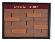 Trendy exterior wall face deco 240x60mm thin clay red brick italy