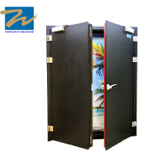 Double Leaves Sound Insulated Fire Door For Airport and Subway