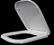 Professional Sanitary Ware New Design PP Slow Close Ultra Slim Square Toilet Seat Cover