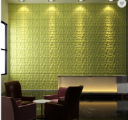3d pvc wall panel embossed wall board