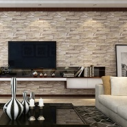 china cheap temporary easy to remove pvc stone wallpaper store online