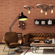 Custom pvc waterproof stone type household removable brick wallpaper design