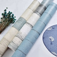 Mediterranean design wood thick waterproof pvc self adhesive wallpaper